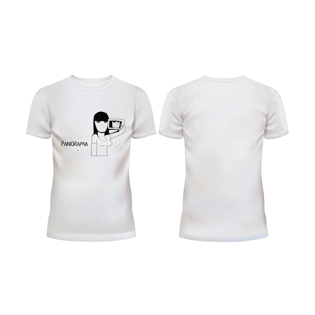 Panorama Girl- Half Sleeve T-Shirt