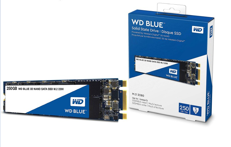 WD Western Digital Blue 250GB M.2 Internal Solid State Drive