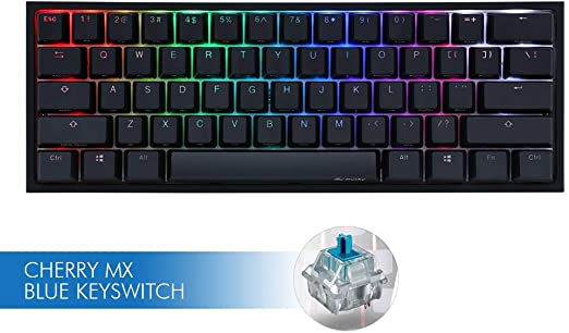BLACK Ducky One 2 Mini v2 RGB Mechanical Keyboard Blue Switch