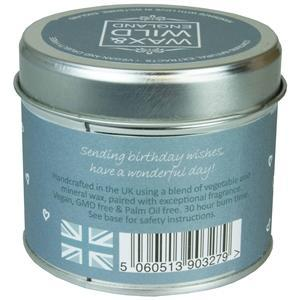 Sentiments Candle in Tin - Happy Birthday - Light & Scent