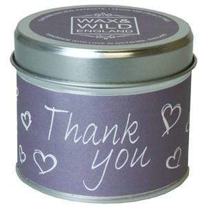 Sentiments Candle in Tin - Thank You - Light & Scent