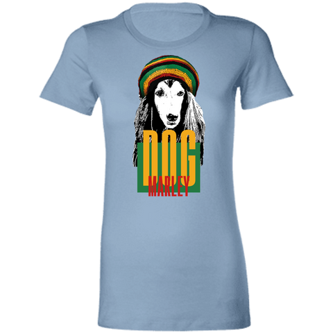 Image of Dog Marley Ladies' Slim-Cut T-Shirt