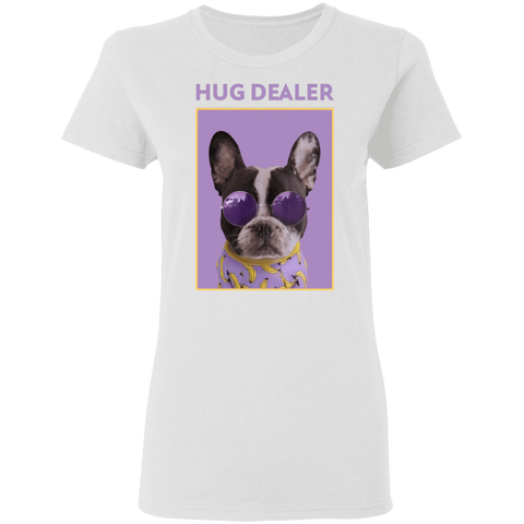 Image of Hug Dealer - Ladies' Preshrunk Cotton T-Shirt