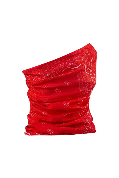 Red Paisley Breathable Plain Snood