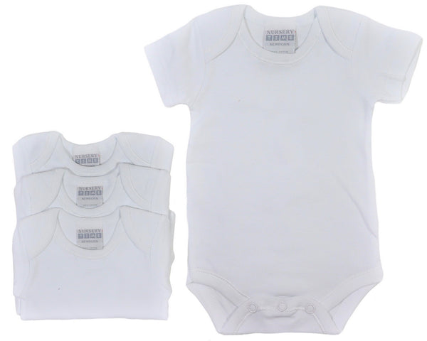 Short Sleeve Baby Bodysuits 3 Pack