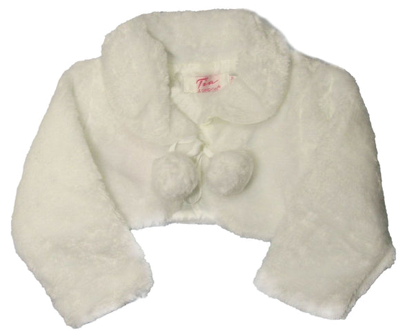Girls' Faux Fur Bolero