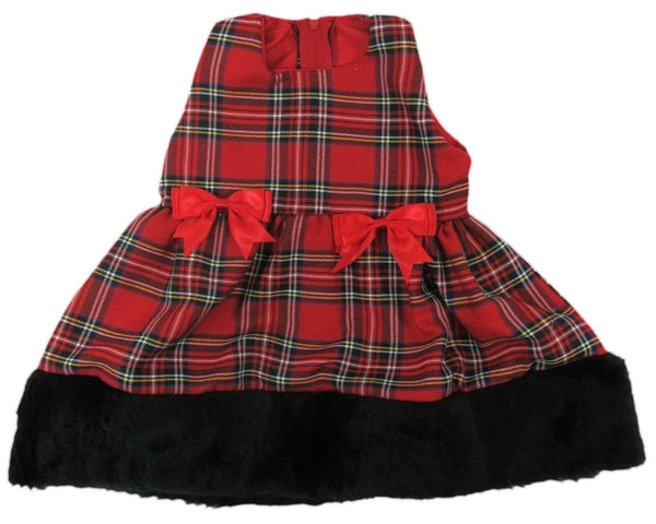 Red Tartan Baby Dress