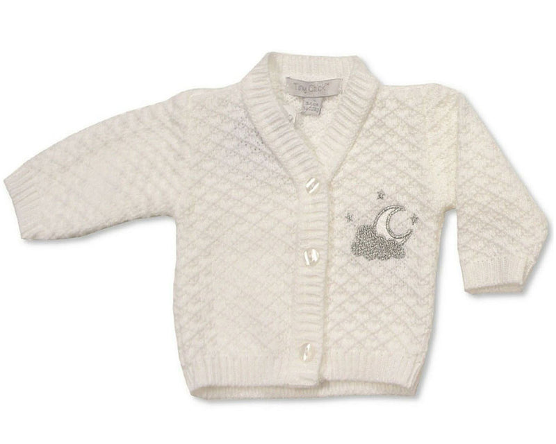 Premature Baby Knitted Moon Cardigan