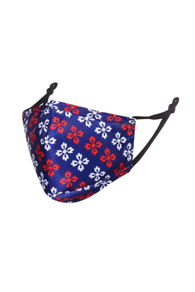 Blue with Red and White Design Children's Breathable Face Mask