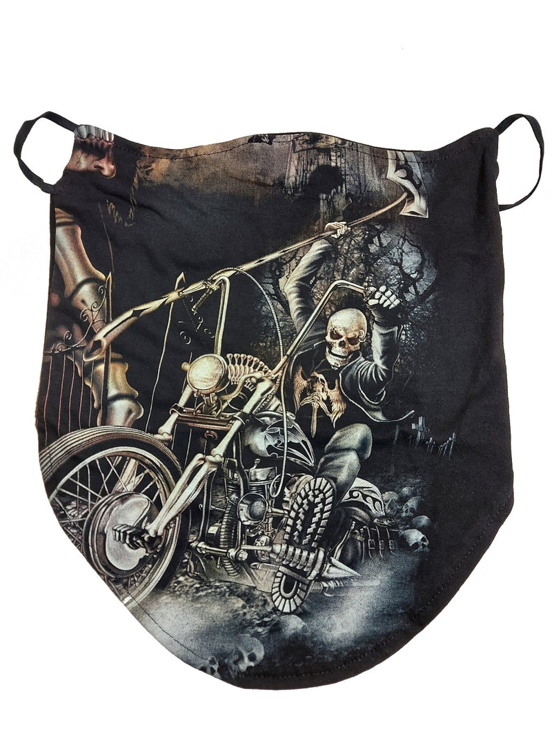 Grim Reaper Biker Breathable Neck Buff Face Mask
