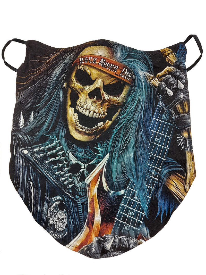 Rock Never Dies Breathable Neck Buff Face Mask