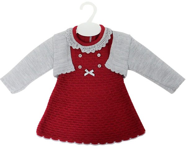 Knitted Baby Dress with Bolero