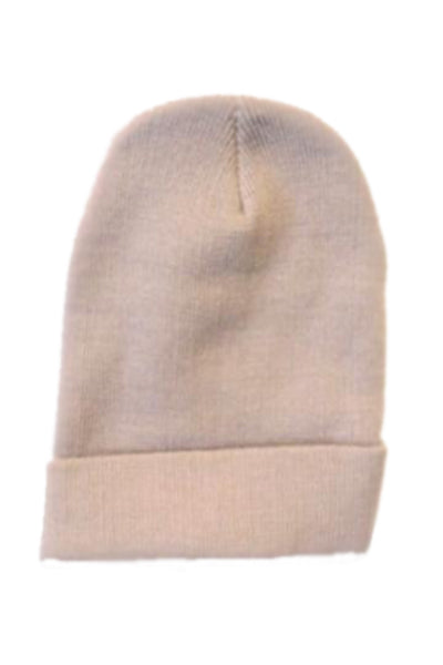 Plain Turn Up Knitted Beanies