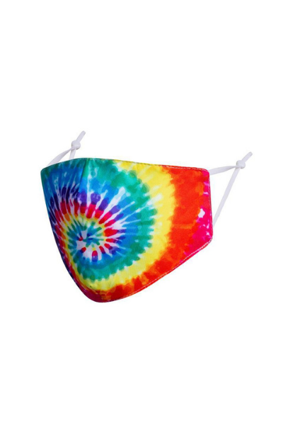 Rainbow Tie-Dye Polycotton Breathable Face Mask