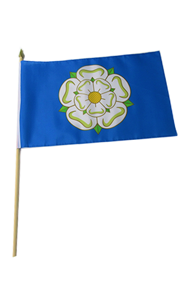 Yorkshire Rose Large Hand Flag