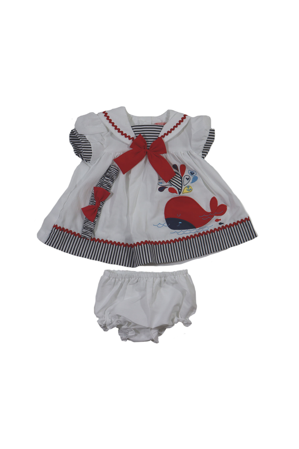 Baby Girl Whale Sailor Outfit