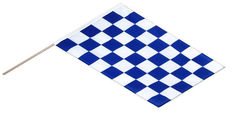 3ft x 2ft Blue Chequered Flag
