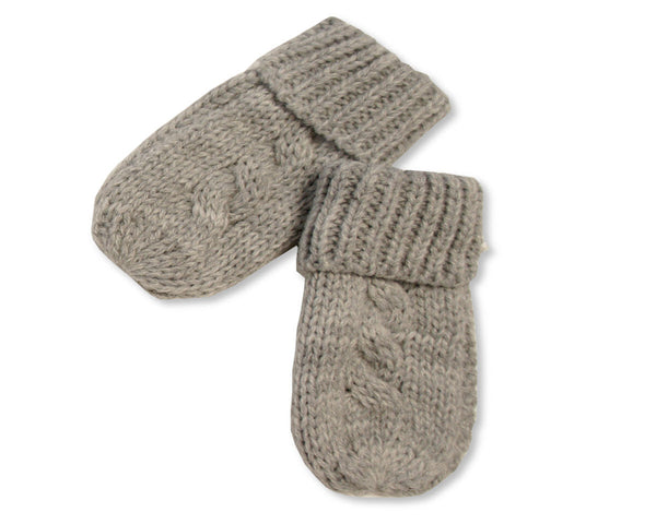 Nursery Time Cable Knit Baby Mittens
