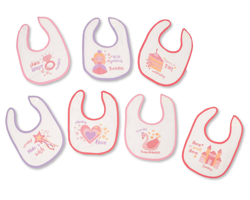 Days of the Week Princess Bibs