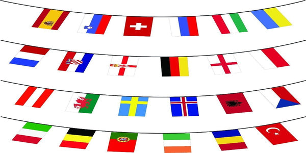 European Countries Bunting - 6m