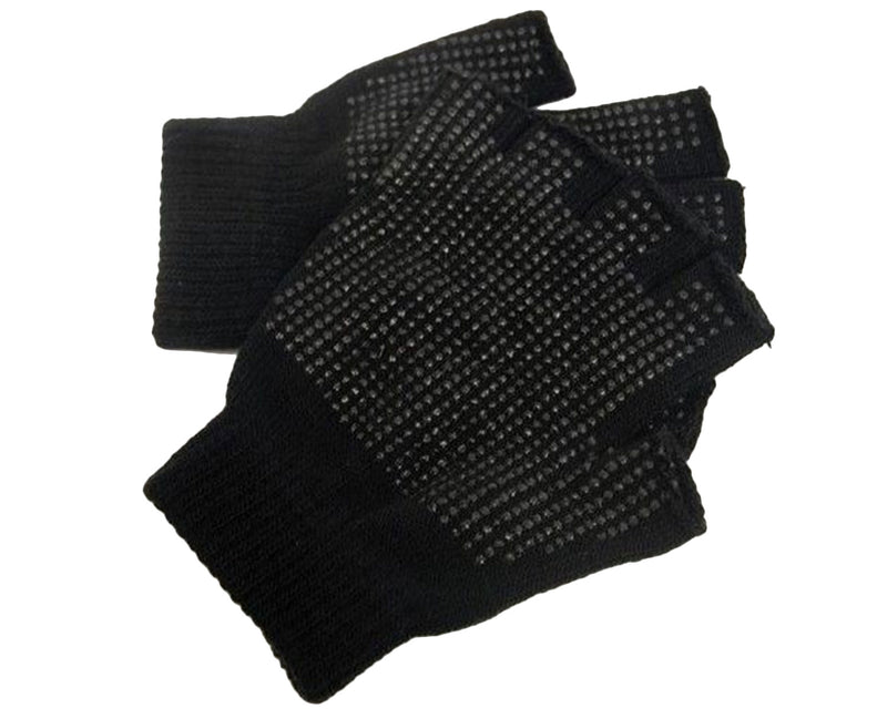 Adult's Fingerless Gripper Gloves