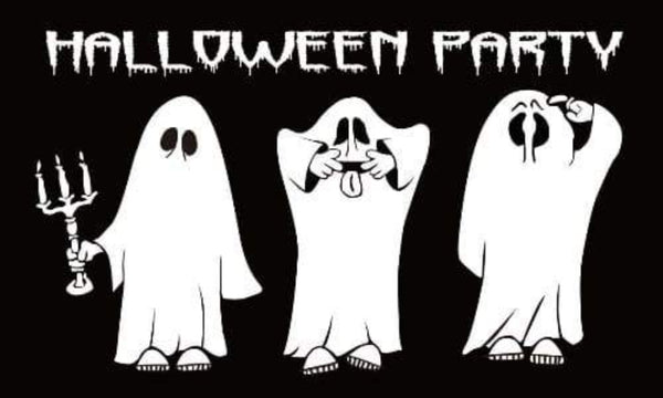 5ft x 3ft Halloween Party Flag