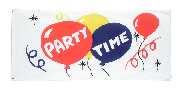 5ft x 3ft Party Time Flag