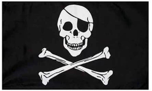 5ft x 3ft Skull and Crossbones Flag