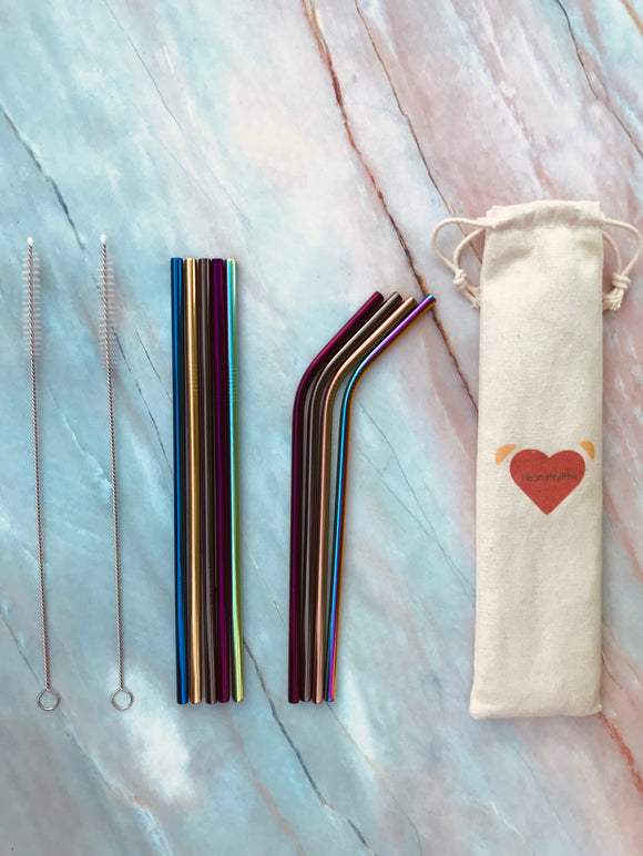 Colorful Stainless Steel Straw Set