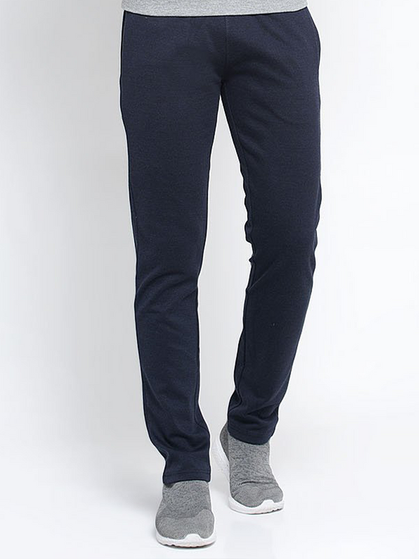 Men Navy Blue Solid Lower