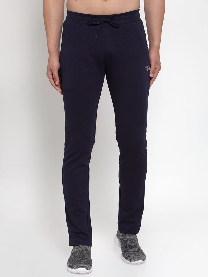 Mens Navy Blue Solid Lower