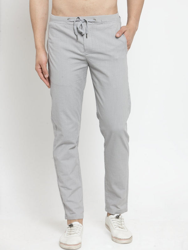 Mens Solid Grey Work Jogger
