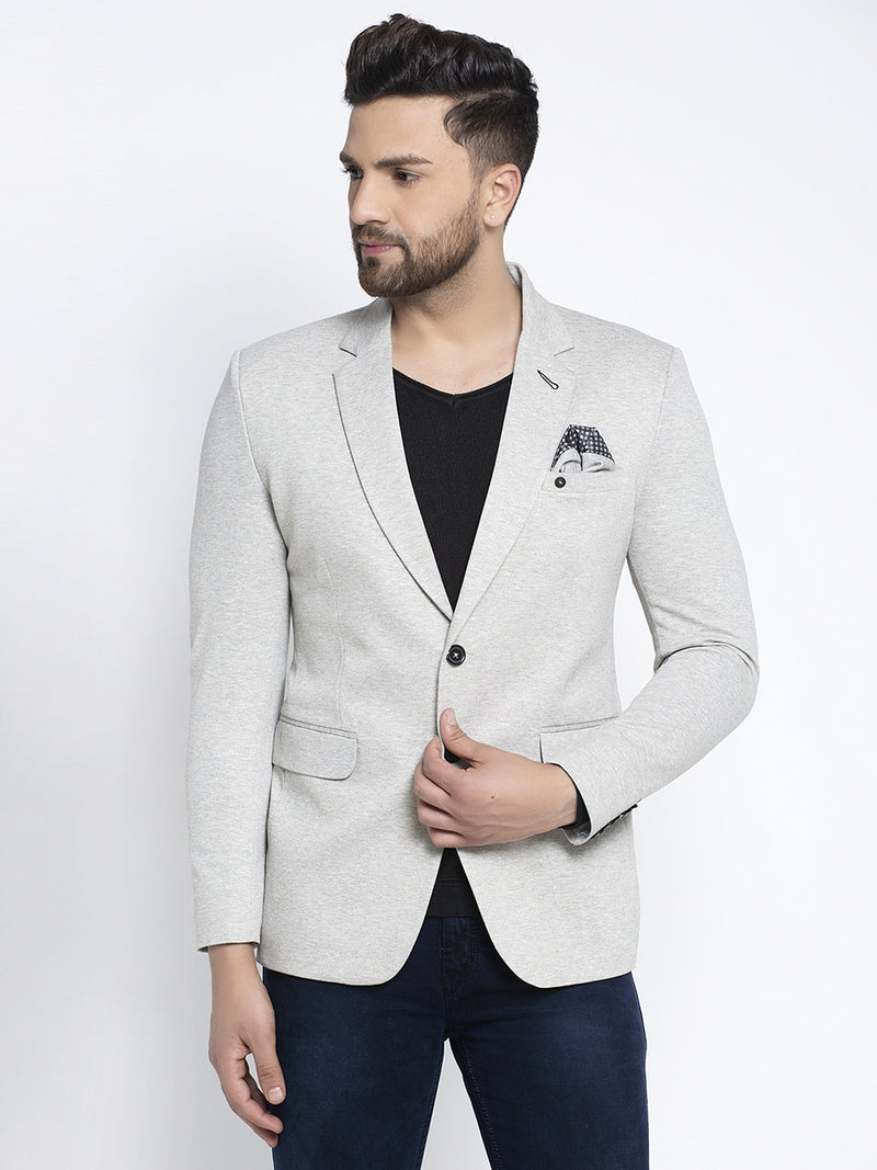 Mens Grey Long Sleeves Coat