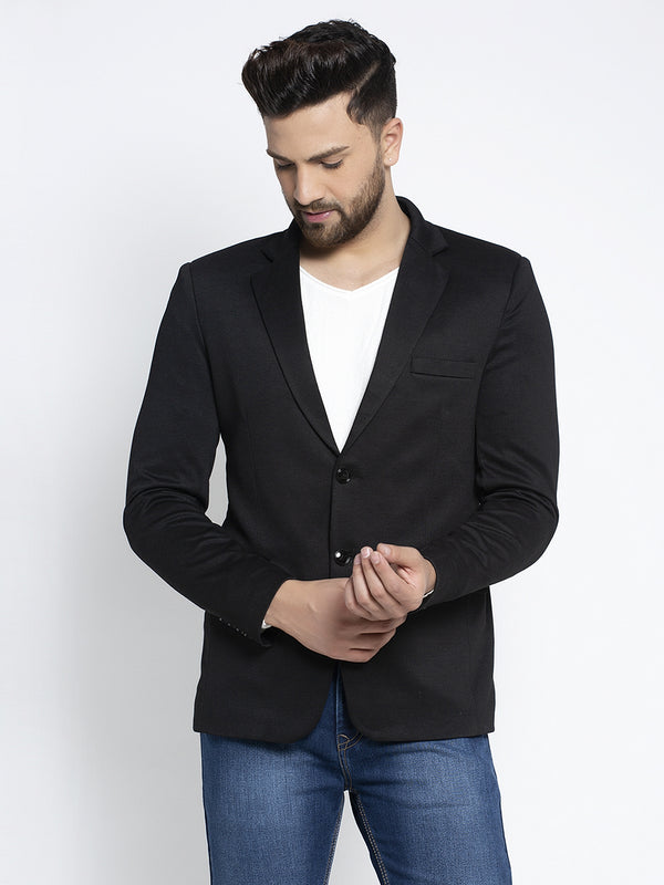 Mens Black Long Sleeves Coat