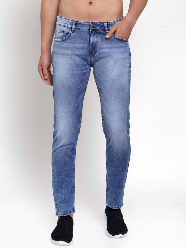 Mens Blue  Solid Jeans