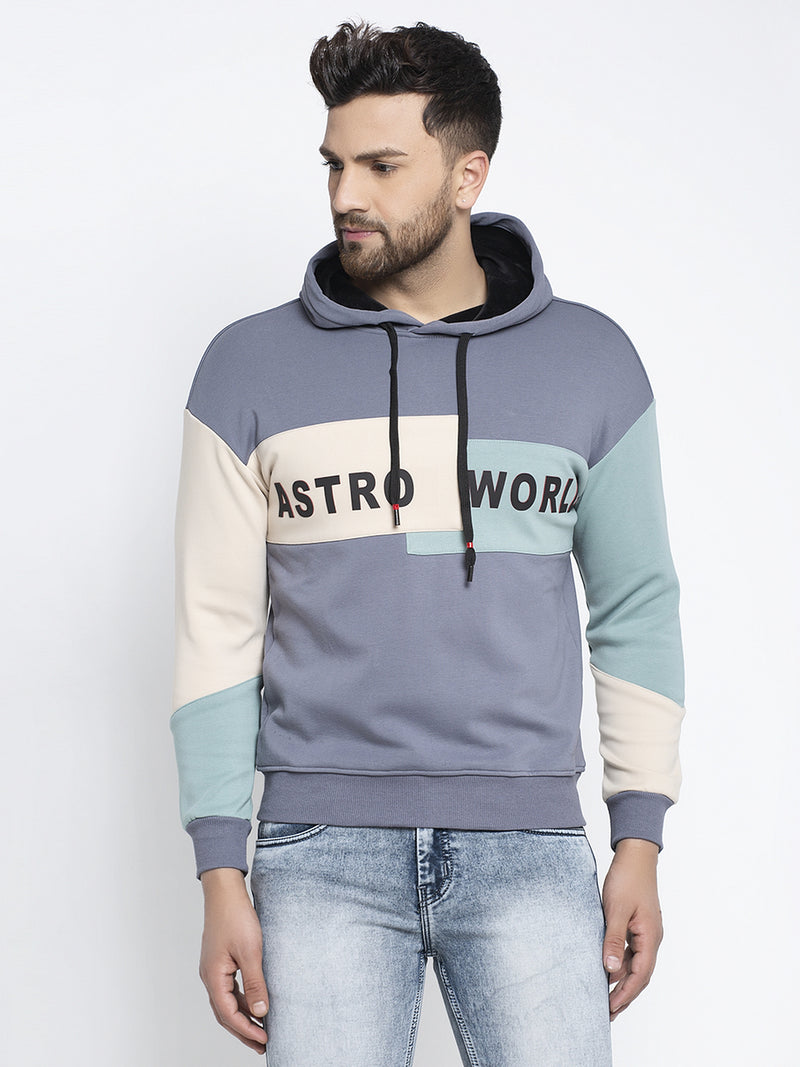 Mens Blue Long Sleeves Sweatshirt