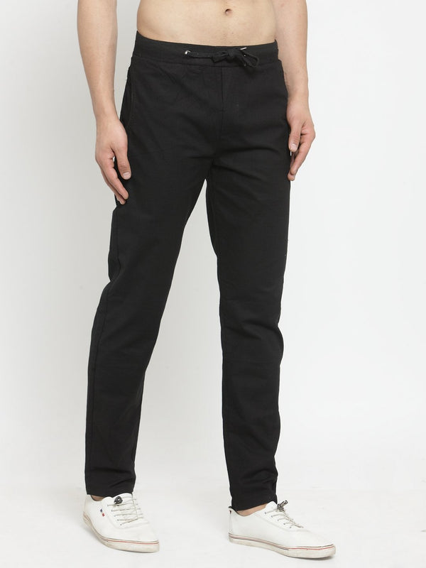 Men Solid Black Work Jogger