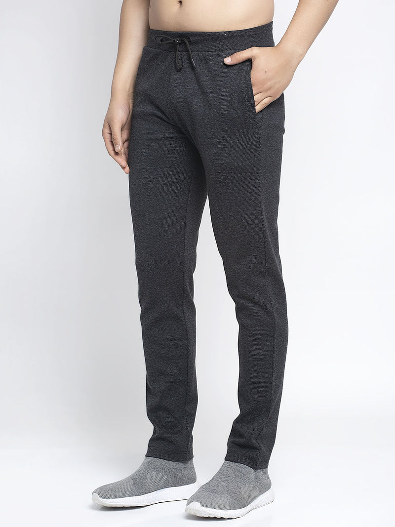 Men Black Solid Lower
