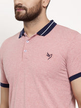 Mens Plain Sky And Red Combo Of 2 T-Shirts