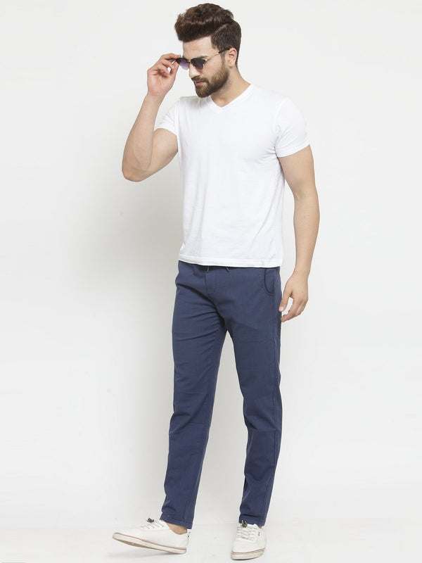 Mens Solid Navy Blue Work Jogger