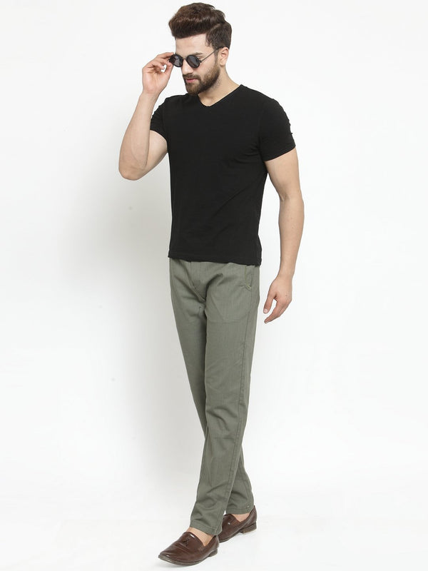 Mens Solid Olive Green Work Jogger