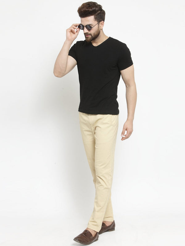 Mens Solid Khaki Work Jogger