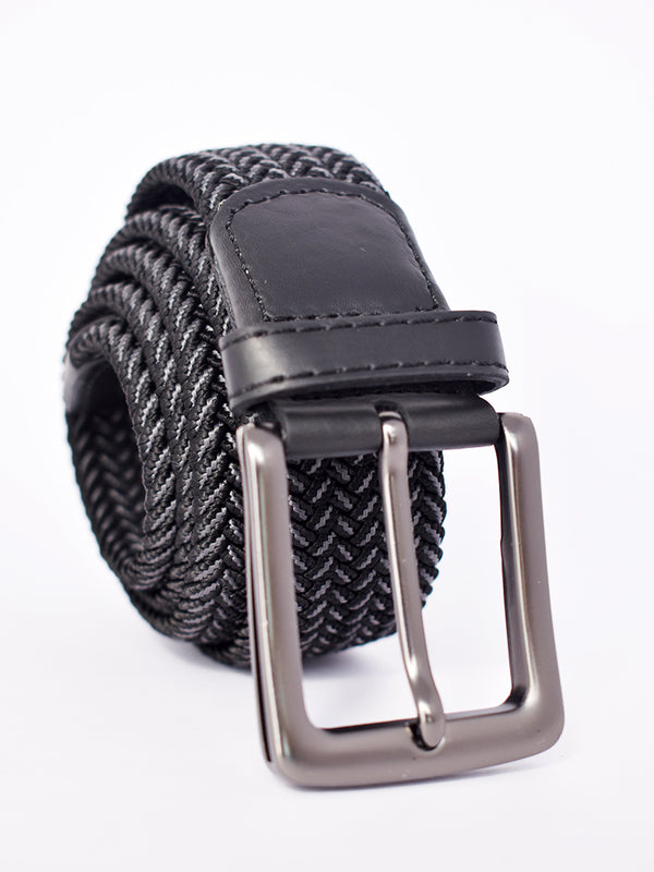 Black Belt with Steel Grey Detailing