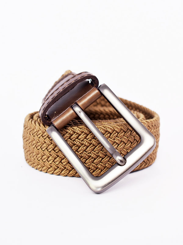 Tan Belt with Steel Grey Detailing