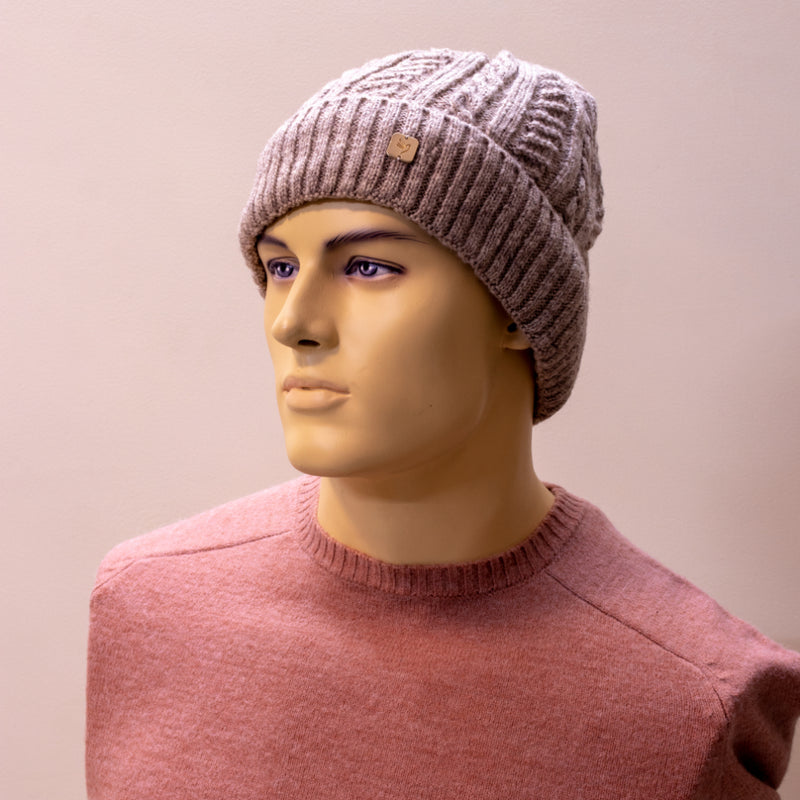 Men Solid Beige Cap