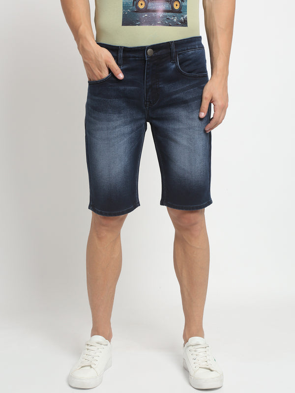 Men Blue Solid Shorts