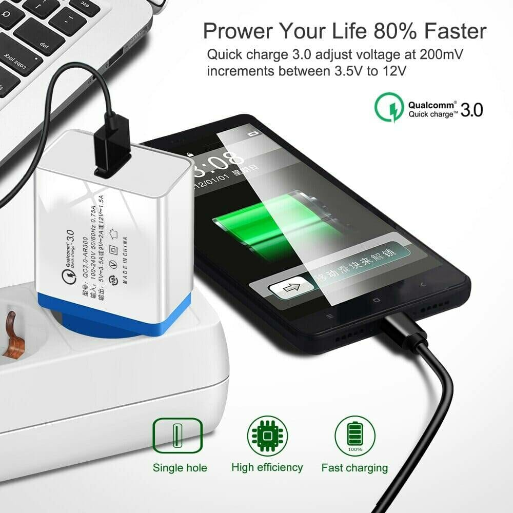 Fast USB Charger for Mobile Phone