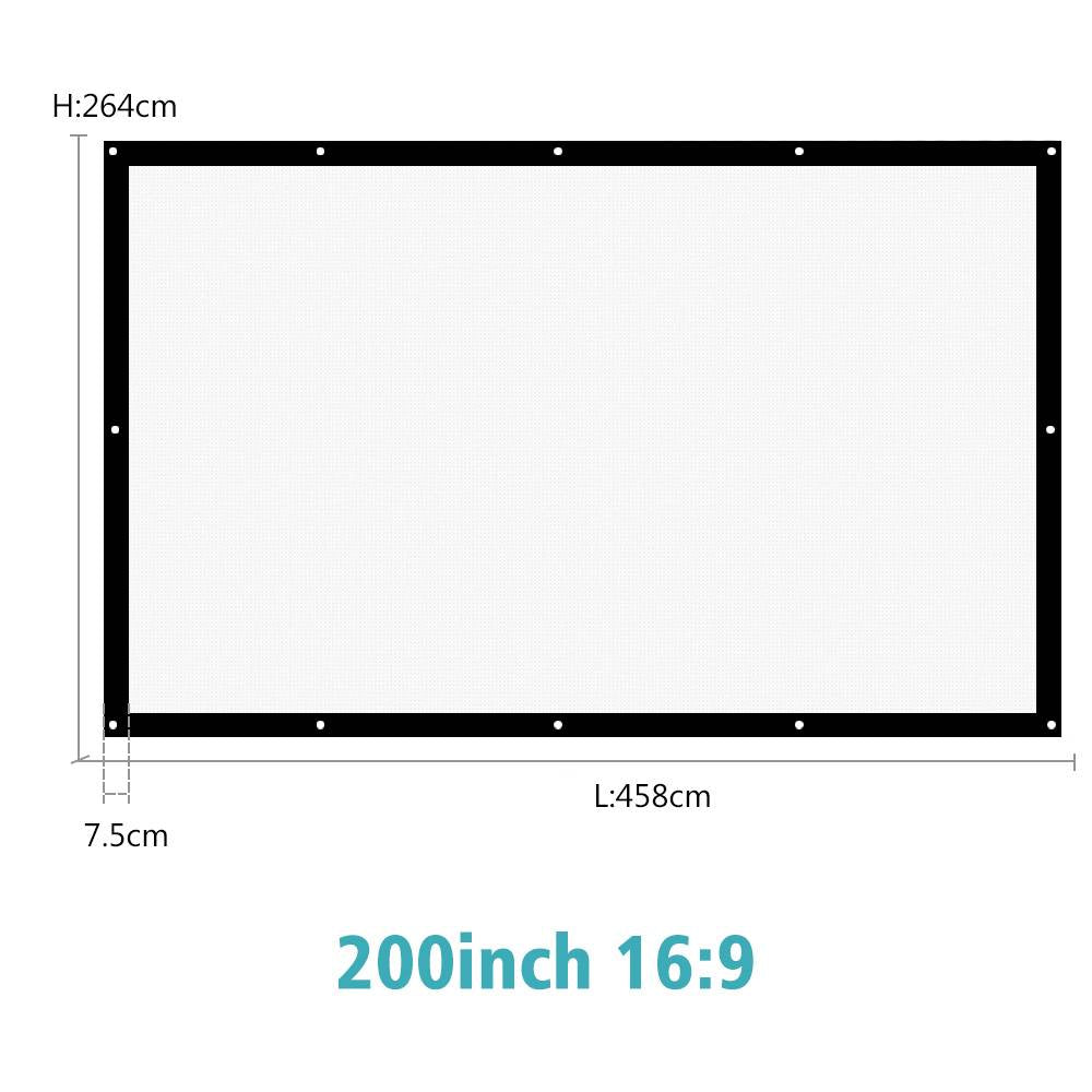 180/200/250/300 Inch Projector Screen Canvas