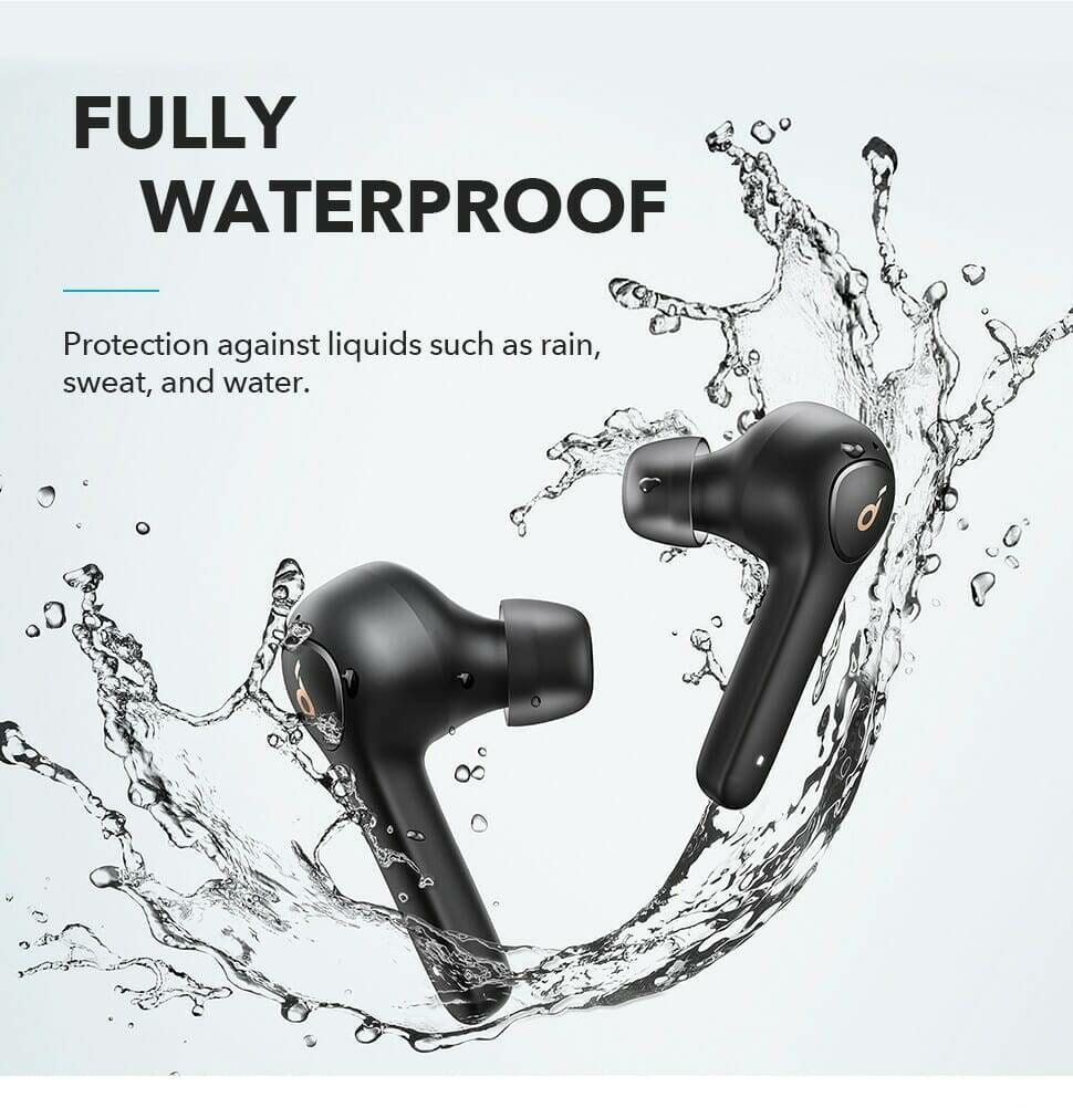 Waterproof Wireless Earphones with 4 Microphones and Noise Reduction
