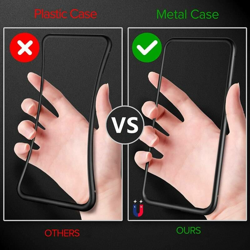 Magnetic Glass Phone Case for Samsung and iPhone